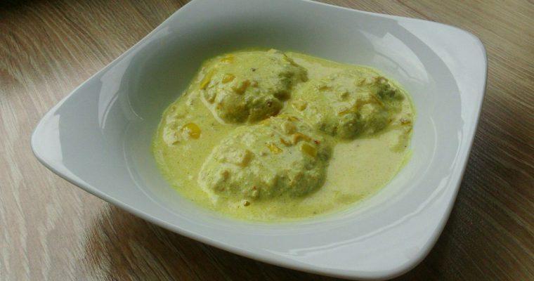Pulpeciki z dorsza w sosie jogurtowym curry